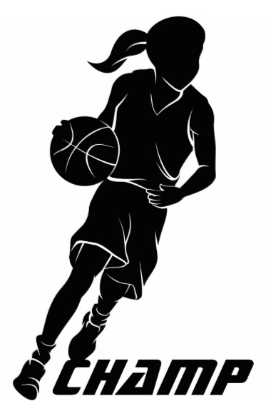 Basketball Girl Dribbling Statuette