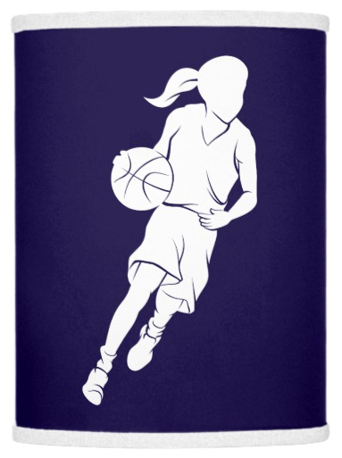 Basketball Girl Dribbling Lamp Shade