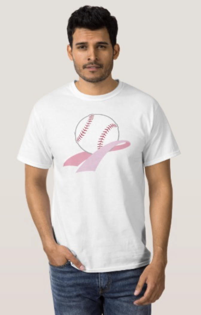 Baseball Breast Cancer Awareness T-Shirt