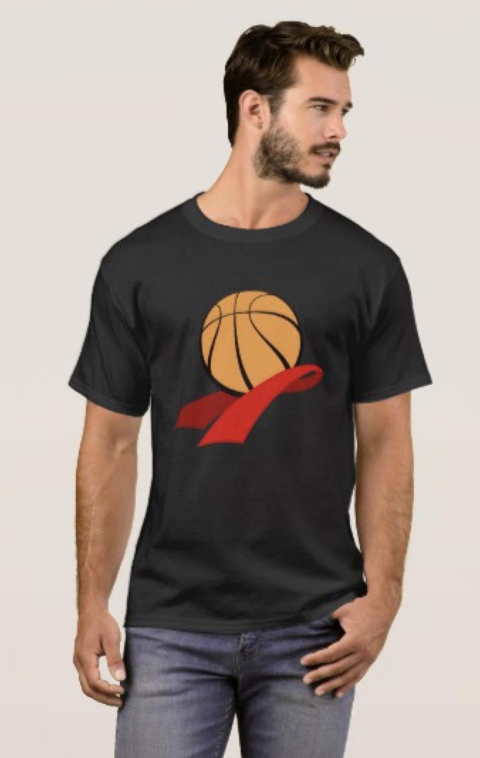 Basketball Heart Health Awareness T-Shirt