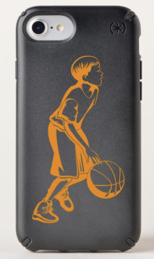 Boy Dribbling a Basketball Speck iPhone Case