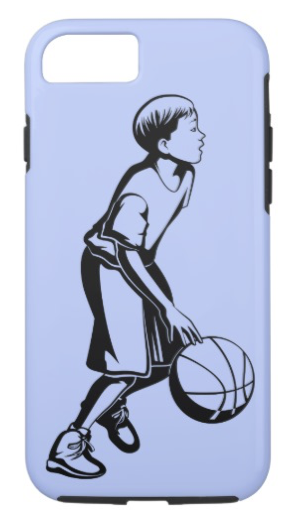 Boy Dribbling a Basketball iPhone 8/7 Case