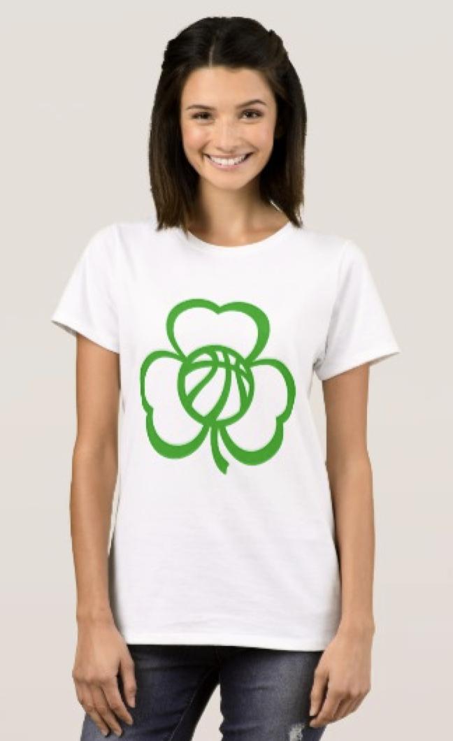 Basketball Three Leaf Clover T-Shirt