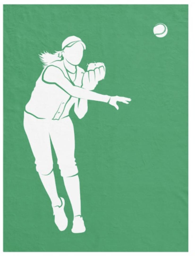 Softball Throw Fleece Blanket