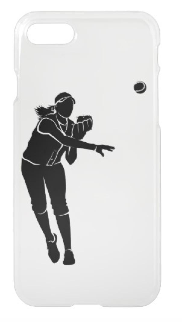 Softball Throw iPhone Case