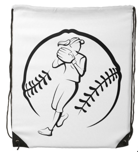 Softball Player Throwing Bag