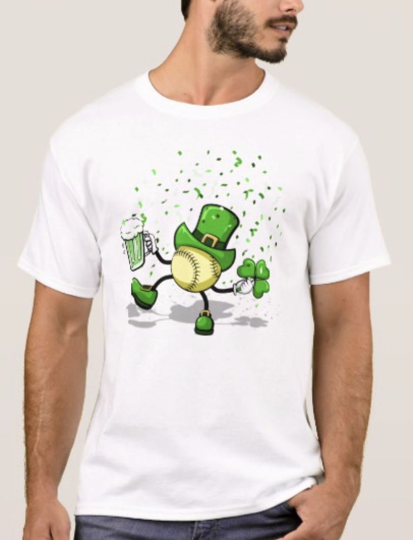softball Leprechaun Dancing T-Shirt