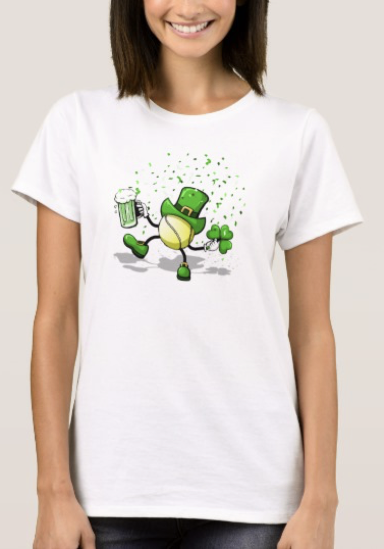Tennis Leprechaun Dancing Women's T-shirt