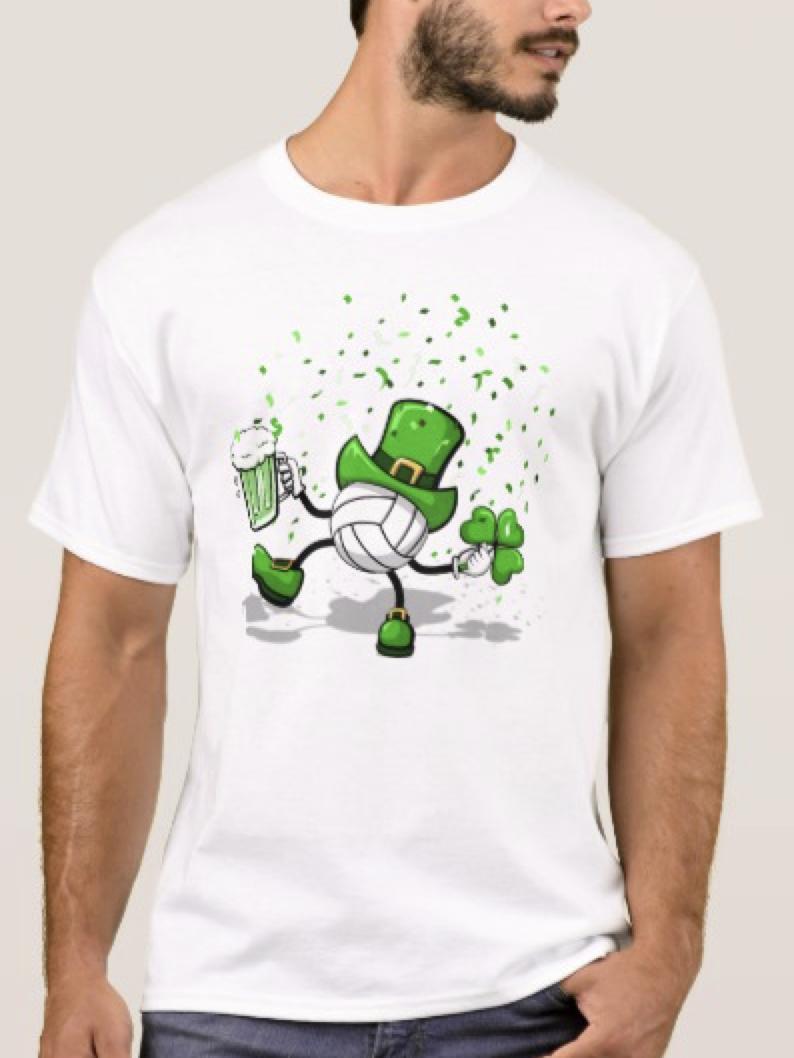Volleyball Leprechaun Dancing T-Shirt
