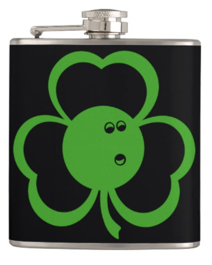 Bowling Three Leaf Clover Flask