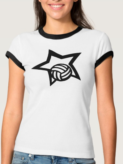 Volleyball Star Women's Ringed T-shirt