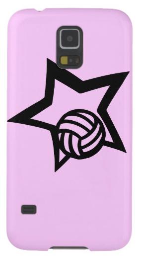 Volleyball Star Pink Galaxy S5 Case
