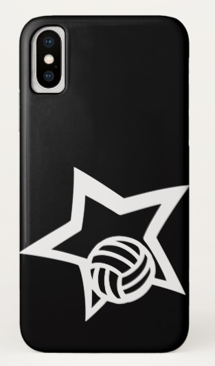 Volleyball Star Black iPhone Case