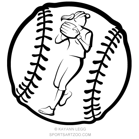 Softball Player Throwing Inside Ball