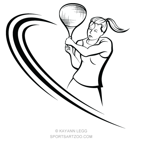 Female Tennis Player Volley