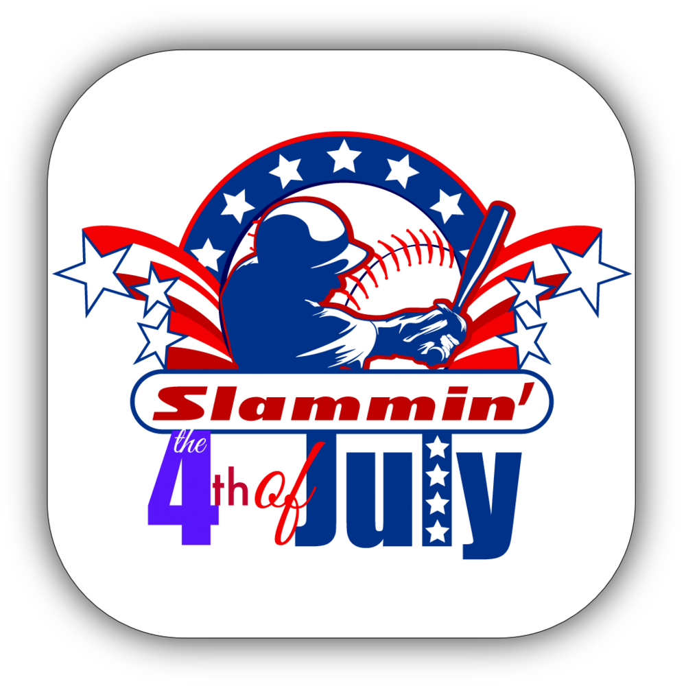 Baseball 4th of July Stickers