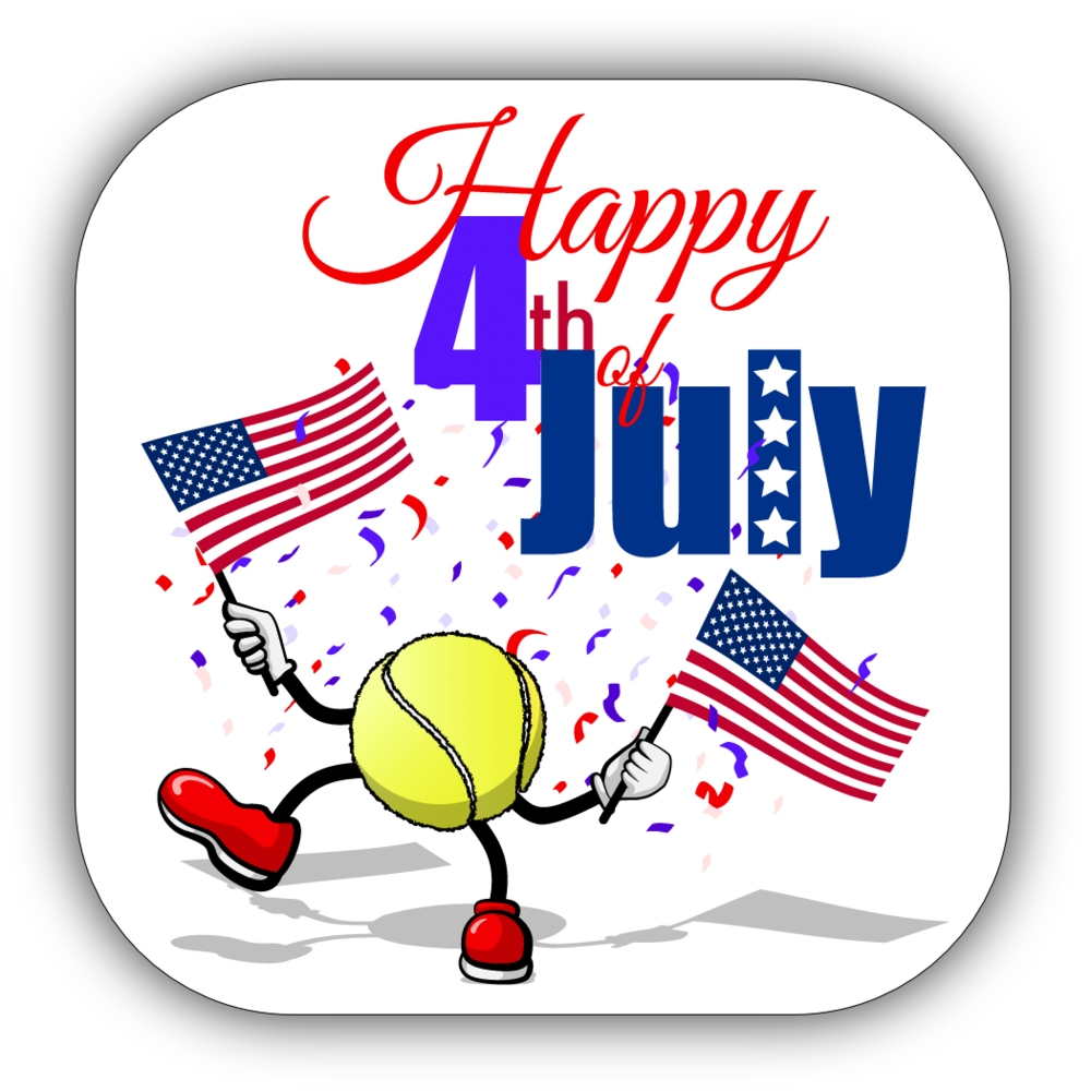 Tennis 4th of July Stickers