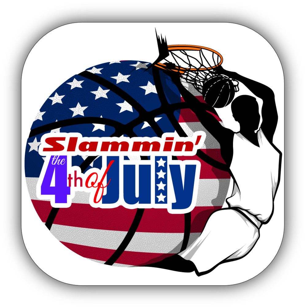 Basketball 4th of July Stickers