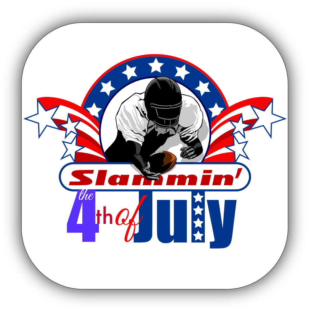 Football 4th of July Stickers