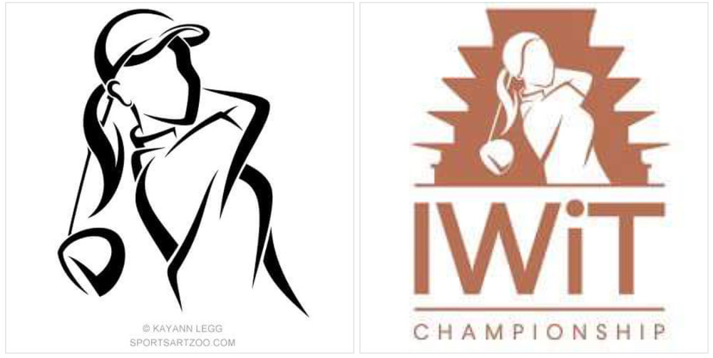 My art and LPGA IWIT logo