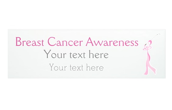 Breast Cancer Golfer Ribbon Banner