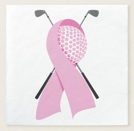 Golf Breast Cancer Awareness Paper Napkin
