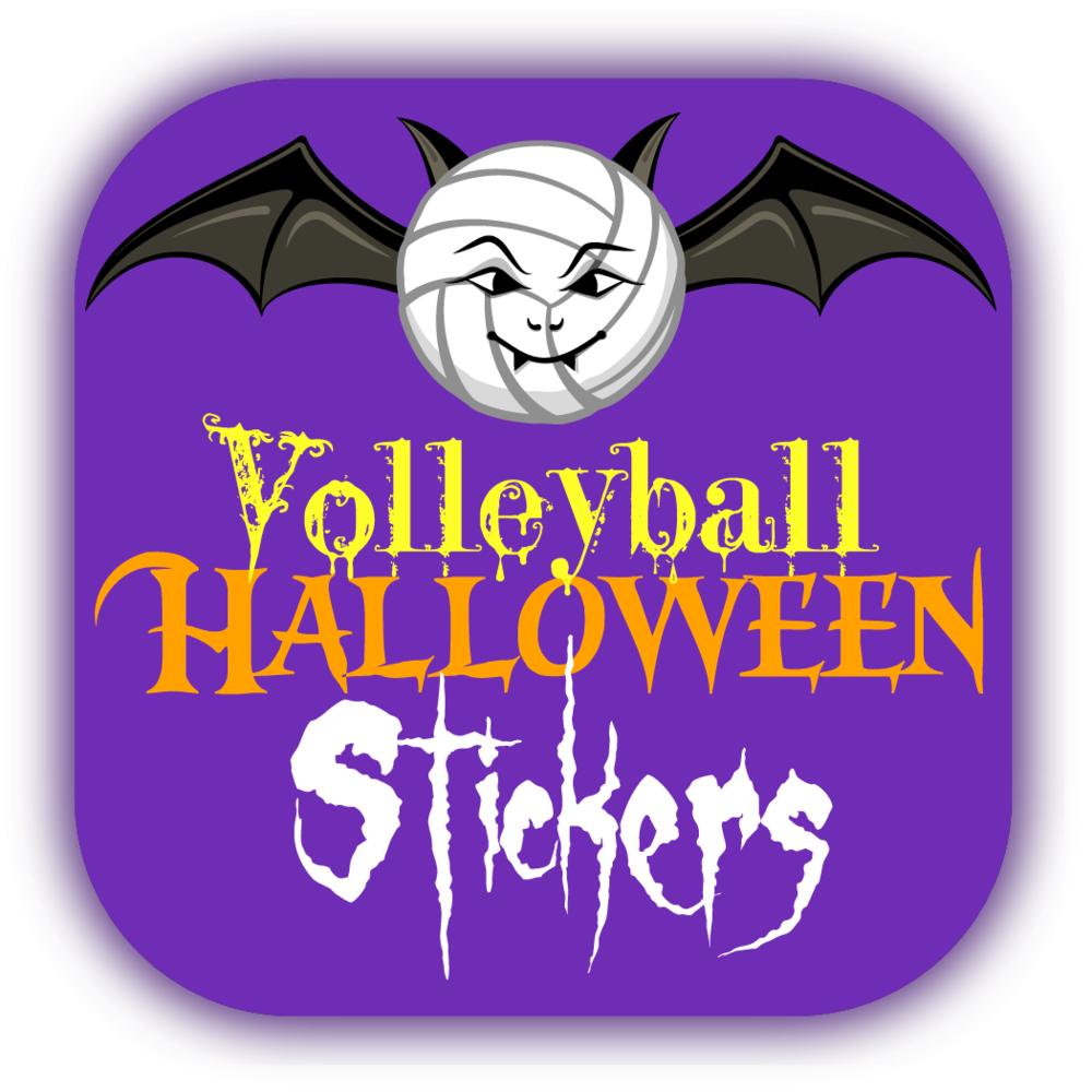 Volleyball Halloween Stickers