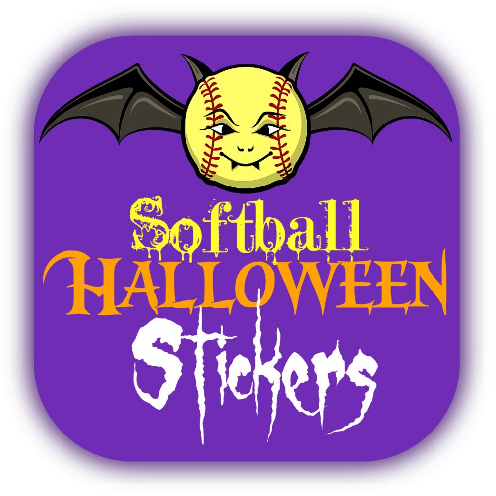 Softball Halloween Stickers