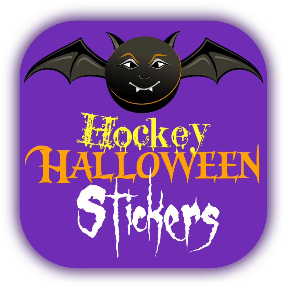 Hockey Halloween Stickers