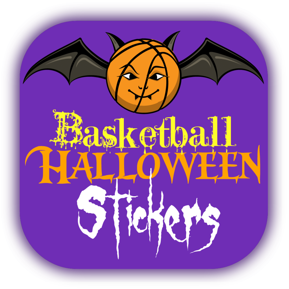 Basketball Halloween Stickers