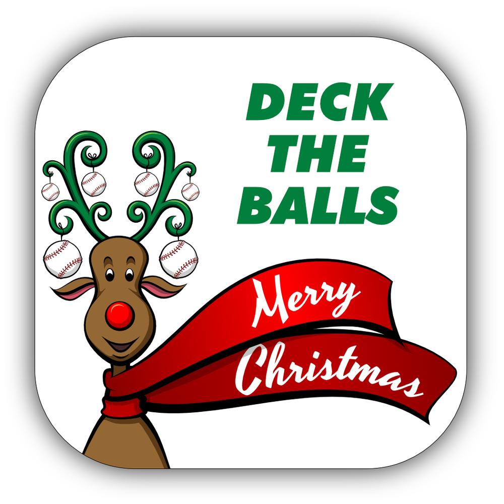 Baseball Christmas Stickers
