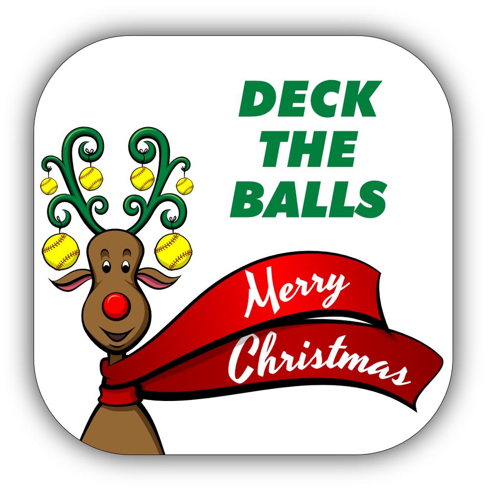 Softball Christmas Stickers