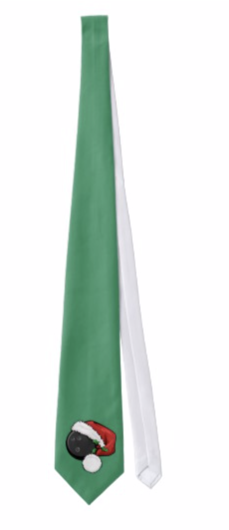Bowling Santa Cap Tie