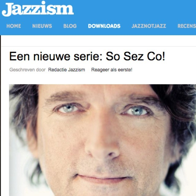 We are recommended by Co De Kloet in the Jazzism in the new series 'So Sez Co'! Our single ' S t i l l ' is now available for download, so check it out! http://www.jazzism.nl/downloads/een-nieuwe-serie-so-sez-co #jazzism #sosezco #evensanne #music #jazz #still #band #download