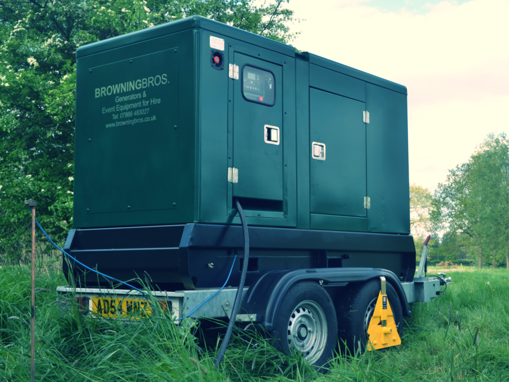 QUIET GENERATOR HIRE for EVENTS