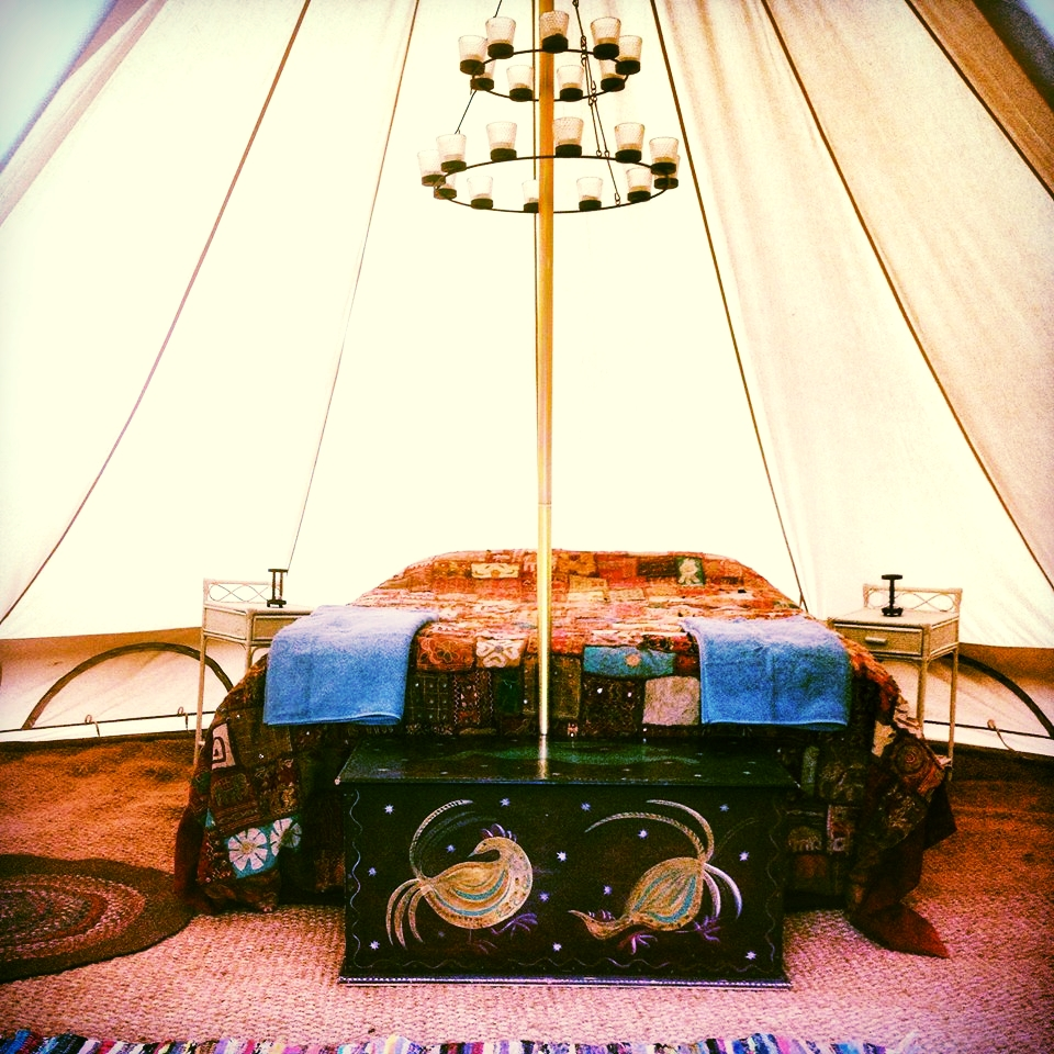 Luxury bell tent for 2