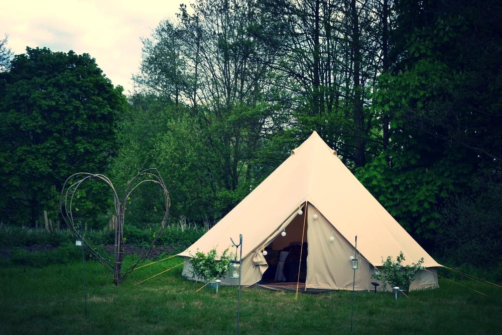 Bell tent exterior
