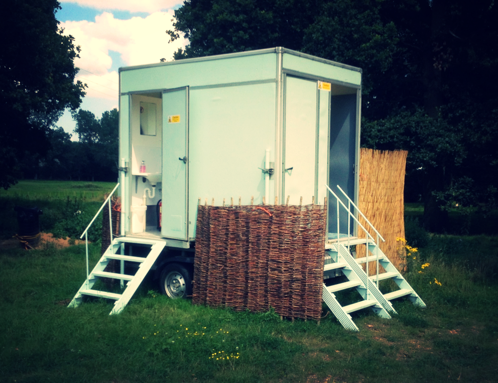 MOBILE SHOWER UNIT hire FOR CAMPSITE