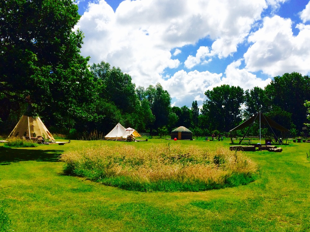 accommodation AT TEY BROOK ORCHARD   wE CAN ACCOMMODATE UP TO 36 GUESTS AT TEY BROOK ORCHARD AND MORE SHOULD YOU NEED EXTRA BEDS. OUR DWELLINGS ARE A MIX OF BELL TENTS AND YURTS, a shepherds hut and grain silo. PLEASE SEE OUR GLAMPING DWELLINGS PAGE FOR FURTHER INFORMATION..