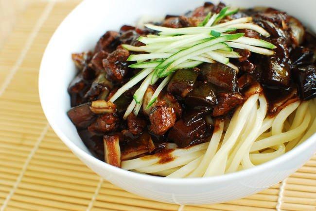 Jajangmyeon (Korean-Chinese Black Bean Noodles)