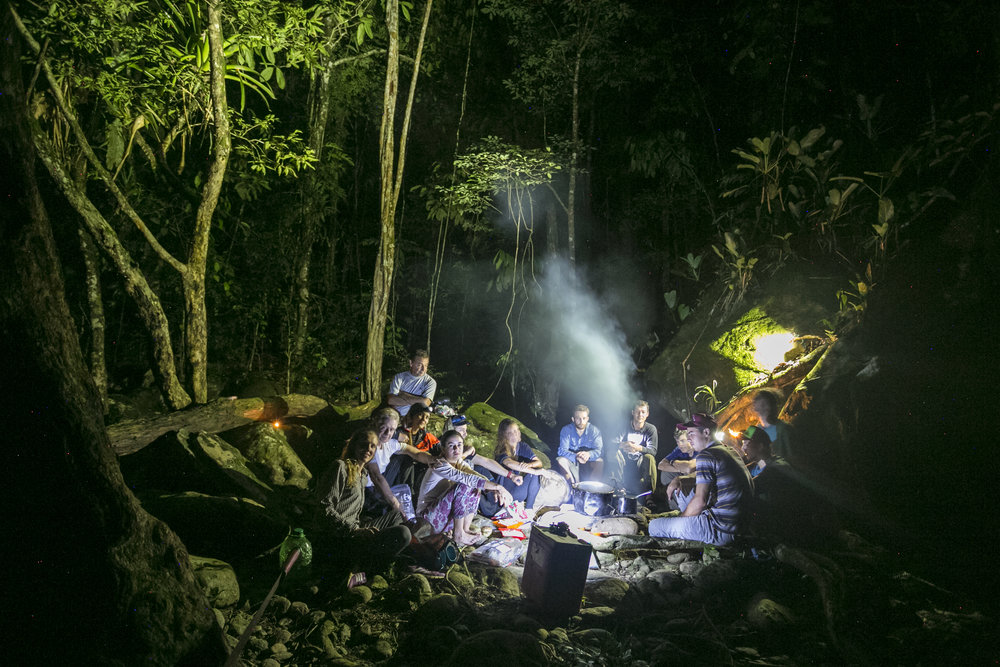 Campamento en la Selva del Rio Samana, Felipe Mesa.jpg