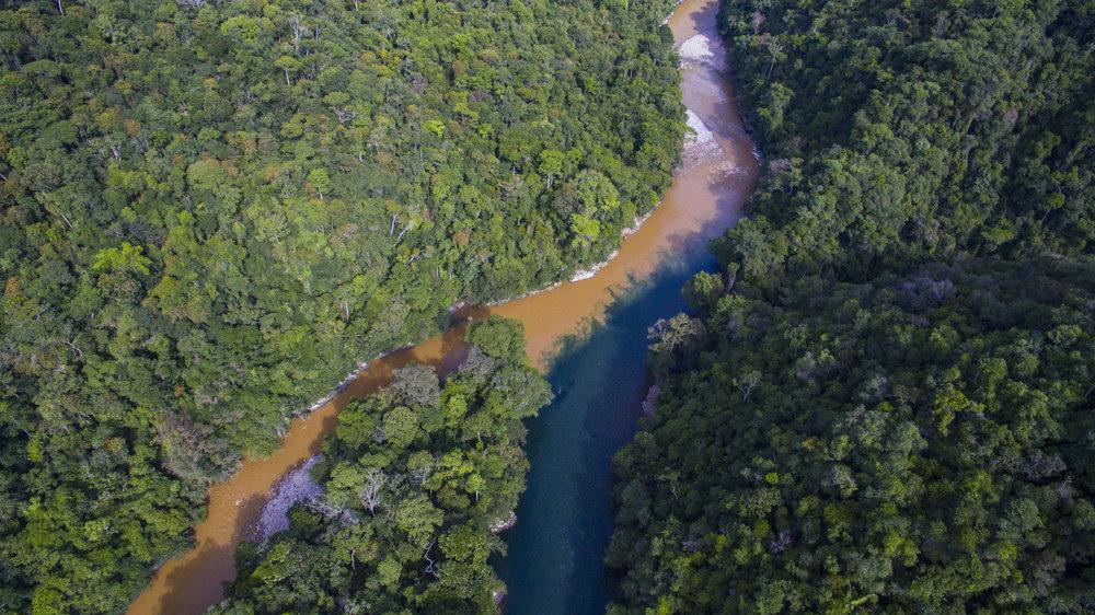 La confluencia del Rio Caldera y del Rio Verde,El nacimineto del Rio Samana, Jules Domine.jpg