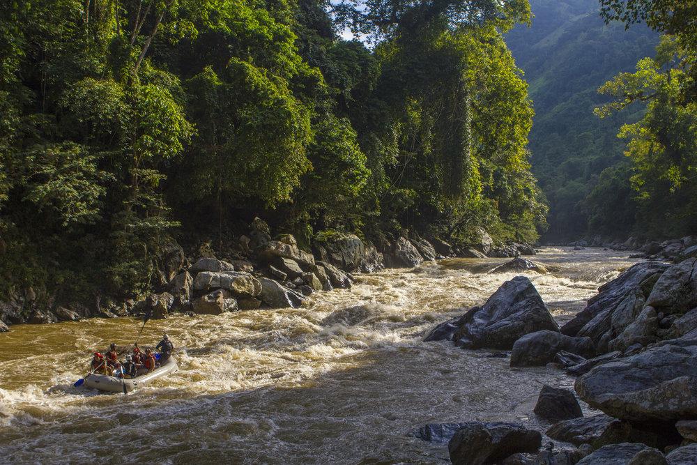 Tardecer en el Rio Samana, Jules Domine.jpg