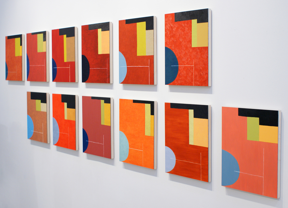 Earth Red Field series at Linda Durham Contemporary Art in Santa Fe, November 2009