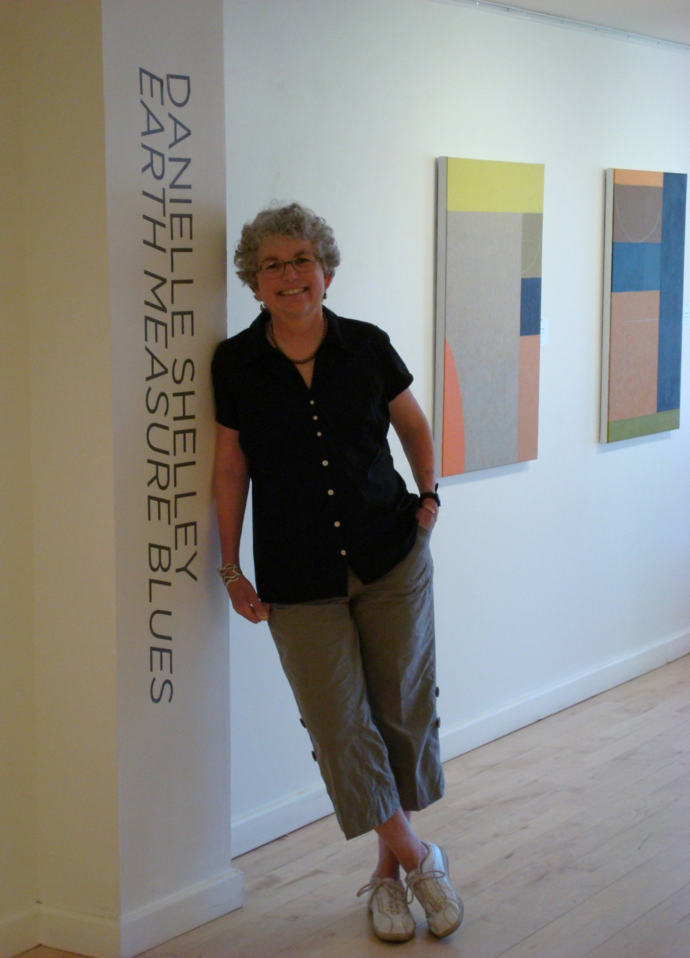 Danielle Shelley at her solo show at David Richard gallery in Santa Fe, May 2012