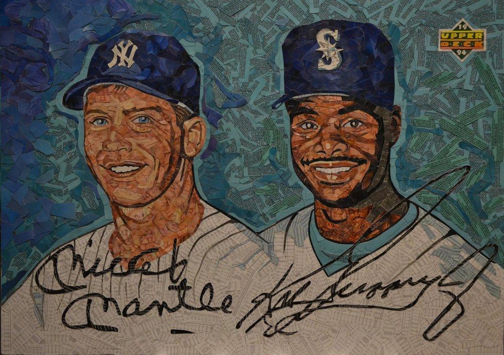 1994 Upper Deck Dual Autographs Mickey Mantle/Ken Griffey Jr.