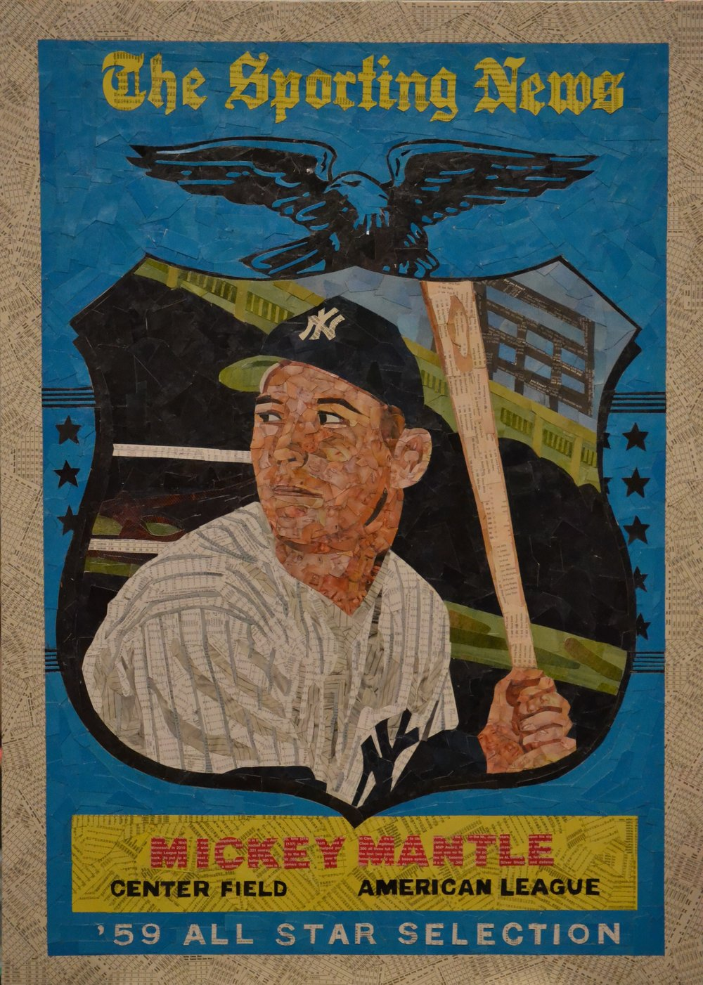 1959 Topps Sporting News All-Star Mickey Mantle
