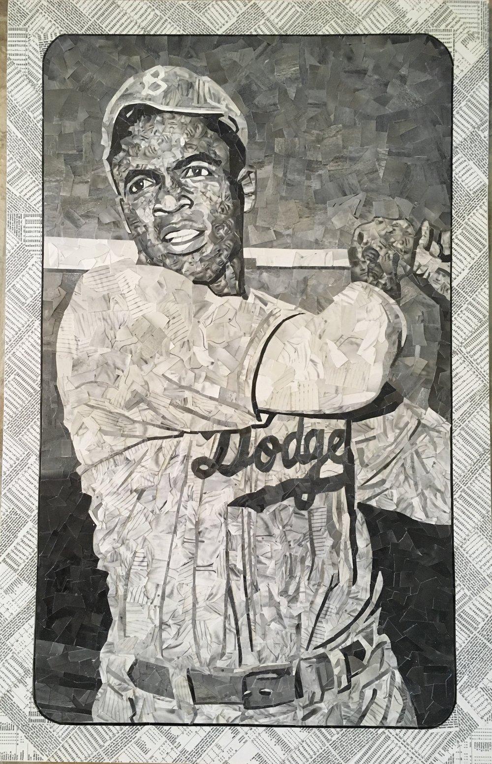 1947 Bond Bread Jackie Robinson (Bat Follow, White Sleeves)