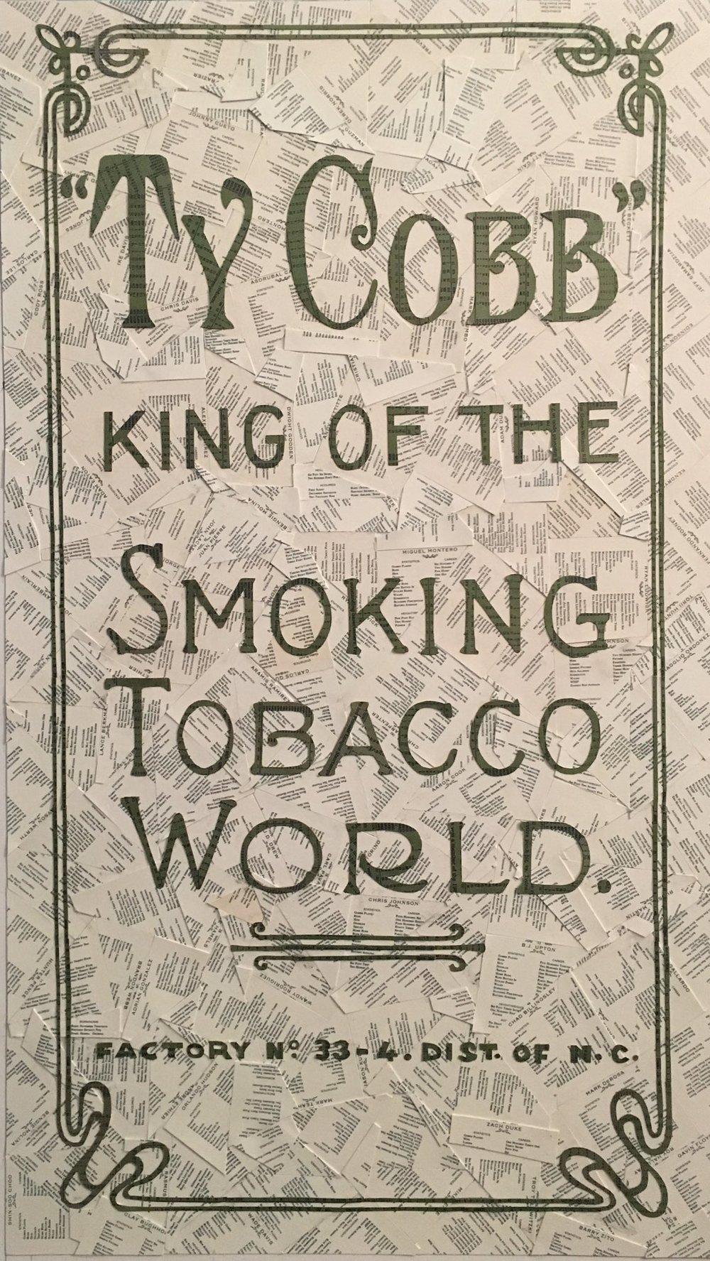 T206 Ty Cobb Advertisement Back