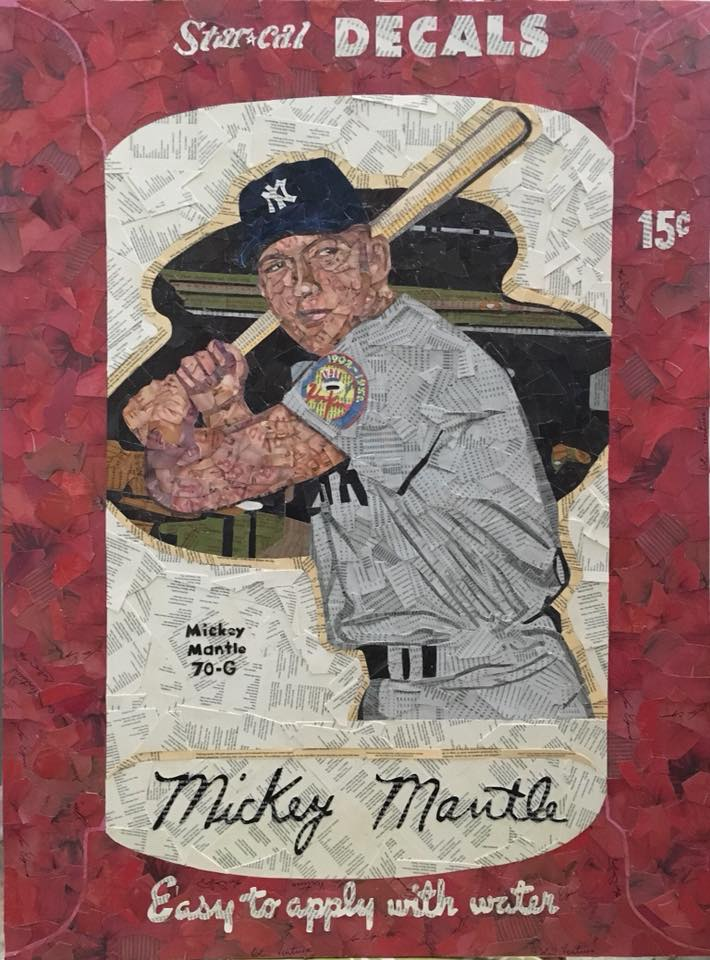 1952 Star Cal Decals Mickey Mantle